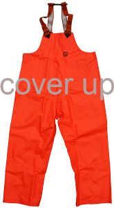 66ºNORTH EXTRA-HEAVY-DUTY ORANGE PVC BIB & BRACE OVERTROUSERS